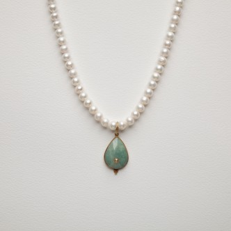 Collier perles de culture,...