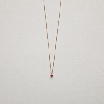Collier or et rubis